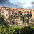 Stock Photo: Italy, Calabria, Old town Tropeon rock