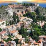 Taormina theater in Sicily, Italy — Stock Photo #11794874