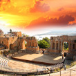 Taormina theater in Sicily, Italy — Stock Photo #11795003