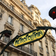 Stock Photo: Paris Metro subway sign