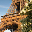 Eiffel Tower during spring time in Paris, France — Stock Photo