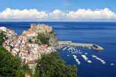 Scilla, Castle on the rock in Calabria, Italy — Stock Photo