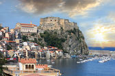 Scilla, Castle on the rock in Calabria, Italy — Stock Photo