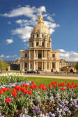 Paris with Les Invalides in spring time, France — Stock Photo
