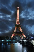 Eiffel Tower in the evening, Paris, France — Stock Photo