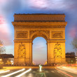 Paris, Famous Arc de Triumph at evening , France — Stock Photo