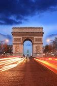 Paris, Famous Arc de Triumph at evening , France — Stock Photo