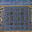 Tiled background in mosque. Isfahan. Iran — Stock Photo