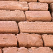 Brick wall with cuneiform writing on bricks, Shush, Iran — Stock Photo