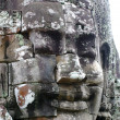 Stock Photo: Close-up of face of king in temple of Bayon, Angkor Wat, Siem Riep, Cambodia.