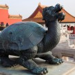 Stock Photo: Statue at Forbidden City. Beijing. China.