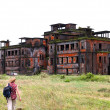 Abandoned hotel. Bokor Hill station near the town of Kampot. Cambodia. - Stock Photo