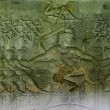 Bas relief 'Churning of the ocean of milk'. Angkor Wat. Cambodia. — Stock Photo