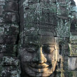 Close-up of face of the king in the temple of Bayon, Angkor Wat, Siem Riep, Cambodia. — Стоковая фотография