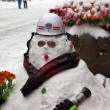 Firemen snowmen. Qianmen Dajie, Beijing, China. — Stock Photo