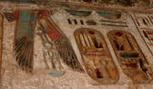 Temple of Ramses III. Detail. Luxor West Bank. Egypt — Stockfoto