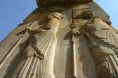 Bas-relief à persépolis, iran — Photo