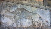 Ancient bas-reliefs of Persepolis, Iran — Stock Photo