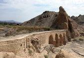 Aqueduct in Kharanaq village near Yazd. Iran — Stock Photo