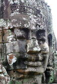 Close-up of face of the king in the temple of Bayon, Angkor Wat, Siem Riep, Cambodia. — Stock Photo