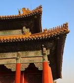 Le palais de trois grandes salles. cité interdite. beijing. chine. — Photo