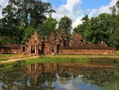 Banteay srei świątyni. angkor. siem reap, kambodża. — Zdjęcie stockowe