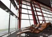 Pekingské mezinárodní letiště. čína. — Stock fotografie
