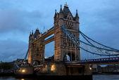 Tower Bridge at dusk. London. UK. — Stock Photo