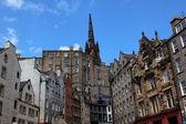 Historic buildings on Victoria St. Edinburgh. Scotland. UK. — Stock Photo