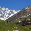 Ushguli - the highest inhabited village in Europe. Upper Svaneti. Georgia. — Stock Photo