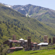 Ushguli - highest inhabited village in Europe. Upper Svaneti. Georgia. — Stock Photo #10797104