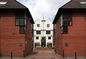 Modern Terraced Houses. London. UK — Stock Photo
