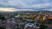 Bird eye view panorama. Tbilisi. Georgia. — Stock Photo
