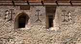 Stone wall of David Gareja monastery. Georgia. — Foto de Stock