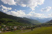 Mestia Valley. Upper Svaneti. Georgia. — Stock Photo