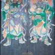 Stock Photo: Two warriors (door gods) on gate of Yeung Hay Temple. Hong Kong.