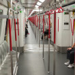 Stock Photo: Interior of Subway (Mass Transit Railway) train. Hong Kong.