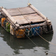 Personal pontoon ferry made from empty plastic containers. Cheung Chau. Hong Kong. — Stock Photo #10802139