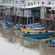 Tin houses and small boats of Tai O fishing Village. Hong Kong. — Stock Photo #10805171