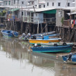 Tin houses and small boats of Tai O fishing Village. Hong Kong. — Stock Photo