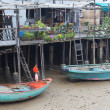 Tin houses and small boats of Tai O fishing Village. Hong Kong. — Stock Photo #10805294