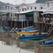 Tin houses and small boats of Tai O fishing Village. Hong Kong. — Stock Photo #10805405