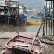 Tin houses and small boats of Tai O fishing Village. Hong Kong. — Stock Photo #10805497