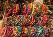 Assortment of colourful bracelets on Cat Street Market stand. Hong Kong — Stock Photo