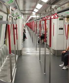 Interior of Subway (Mass Transit Railway) train. Hong Kong. — Stock Photo