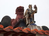 Roof detail of Pak Tai Temple. Cheung Chau. Hong Kong. — ストック写真