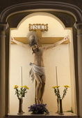 распятие иисуса. церковь святого доминика (домингуш). макао. — Стоковое фото