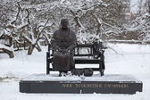 Sculpture of Anna Gagarina Timofeevna (Mother of fist cosmonaut) — Stock Photo