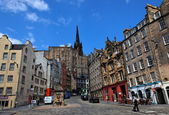 Historic buildings on Victoria St. Edinburgh. Scotland. UK. — Stock Photo