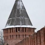 Walls and tower of Smolensk Kremlin. Russia — Stock Photo